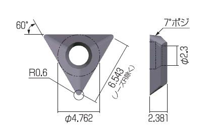 富士元 60°モミメン専用チップ (12個入り) DCET11X304 ZA10N