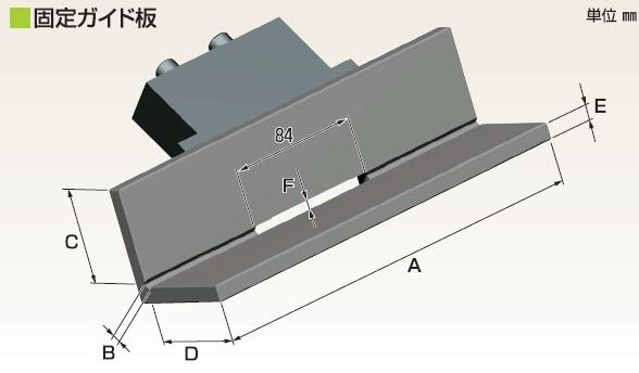 富士元 固定ガイド板 F3L-250 《卓上型面取り機シリーズ》