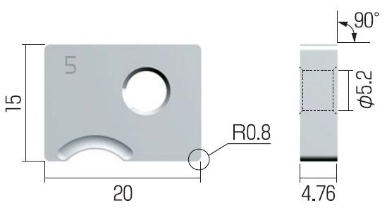 富士元 チップ (3個入り) N54GCR-5R NK6060