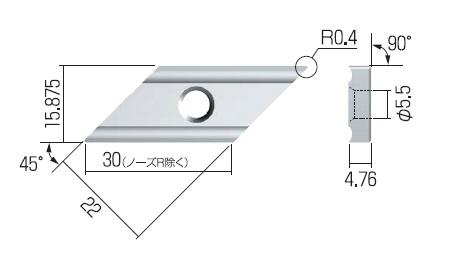 富士元 ジェントルメン専用チップ (3個入り) X63GUR NK6060 《面取りシリーズ》
