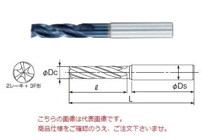 不二越 (ナチ) 超硬ドリル AQDED3F10.0 (アクアドリル底刃付き 3フルート)