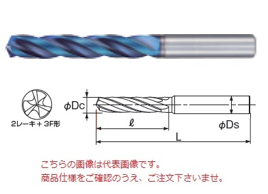 不二越 (ナチ) 超硬ドリル AQDEX3FR1100 (アクアドリル EX 3フルートレギュラ)