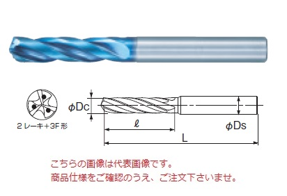 不二越 (ナチ) 超硬ドリル AQDEXOH3F3D1060 (アクアドリル EX オイルホール 3フルート 3D)