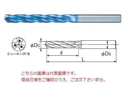 不二越 (ナチ) 超硬ドリル AQDEXOH3F5D1600 (アクアドリル EX オイルホール 3フルート 5D)