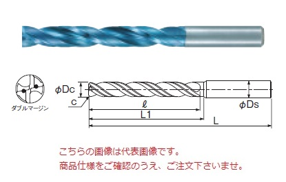 不二越 (ナチ) 超硬ドリル AQDEXZOH5D1070 (アクアドリル EX フラットオイルホール5D)