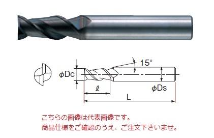 不二越 超硬エンドミル 2DLCM16 (DLC ミル アルミ用)