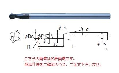 不二越 超硬エンドミル 2DLCR10 (DLC ミル ボール)
