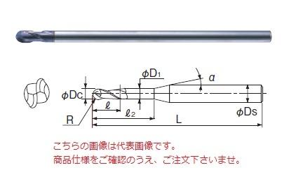 不二越 超硬エンドミル 2GEOLSR2 (X's ミルジオボール ロングシャンク)