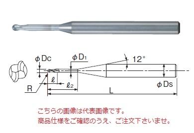 不二越 超硬エンドミル CURIBR0.1X1 (銅加工用ロングネックボール)