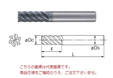 不二越 超硬エンドミル GSXVL6160-2.5D (GSX MILL VL 多刃 2.5D)