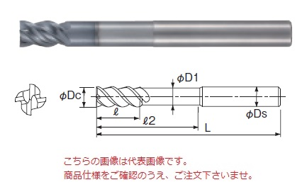 不二越 超硬エンドミル GSXVLLS4120-1.5D (GSX MILL VL ロングシャンク 1.5D)