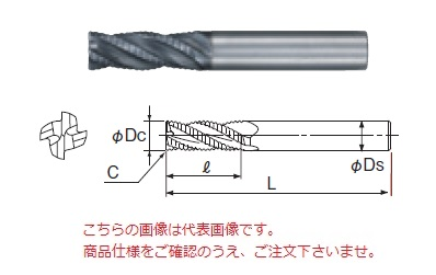 不二越 超硬エンドミル GSXVLRE4160-2.5D (GSX MILL VL ラフィング 2.5D)