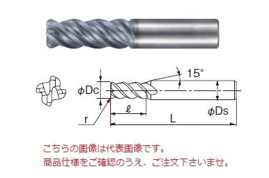 不二越 超硬エンドミル GSXVL4060T-R10-2.5D (GSX MILL VL ラジアス 2.5D Ti・SUS用)
