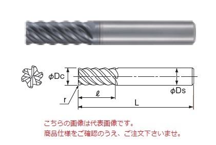 不二越 超硬エンドミル GSXVL6080T-R05-2.5D (GSX MILL VL 多刃ラジアス 2.5D Ti・SUS用)