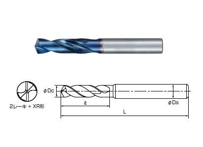 切削工具 工作機械 ベアリング 特殊鋼などの製造販売 不二越 アクアREVOドリル AQRVDS1260 《超硬ドリル》 2020 今季も再入荷 スタブ