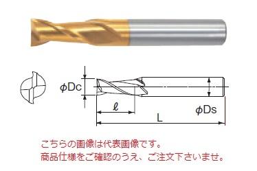 不二越 ハイスエンドミル 2GE45 (G スタンダードエンドミル 2枚刃)