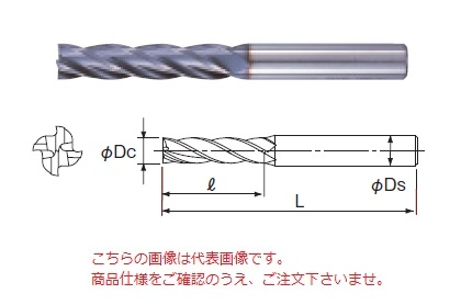 不二越 ハイスエンドミル 4AGEL21 (AG ミル 4枚刃ロング)