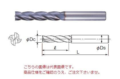 不二越 ハイスエンドミル 4AGEL22 (AG ミル 4枚刃ロング)