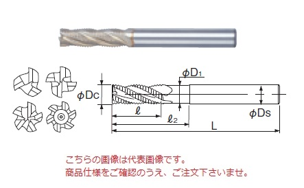 不二越 ハイスエンドミル SGFREM22 (SG-FAX ラフィングエンドミルミディアム)