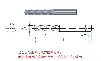 不二越 ハイスエンドミル SL4SE39 (スパーハードロング 4枚刃)