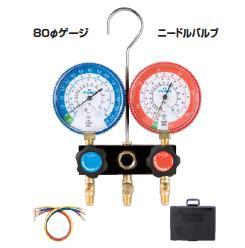 FUSO(フソー) R22,R12,R502用ゲージマニホールドキット(ニードルバルブ式) FS-702CB-1