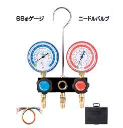 FUSO(フソー) R22,R12,R502用ゲージマニホールドキット(ニードルバルブ式) FS-702DB-1