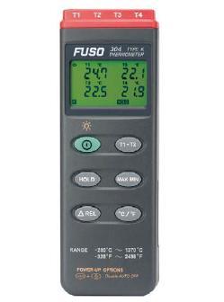 グローバルなお客様のニーズに迅速にそして正確にお応え!  FUSO(フソー) 4chデジタル温度計 FUSO-304