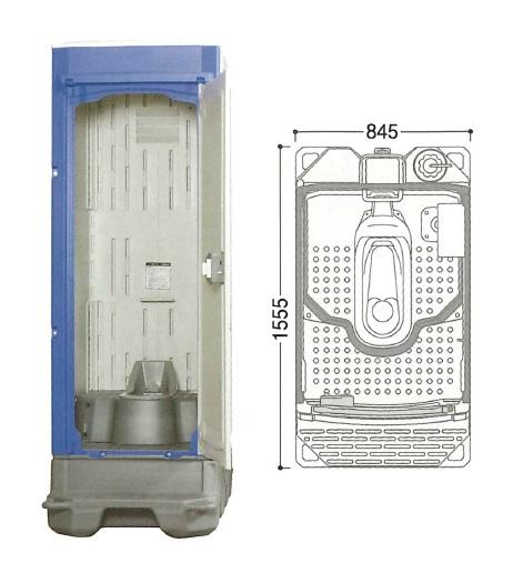 【代引不可】 ハマネツ 仮設トイレ (ポンプ式簡易水洗) TU-iXF4 (1520100) 《兼用和式タイプ》 【送料別】