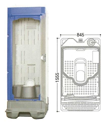 【代引不可】 ハマネツ 仮設トイレ (非水洗) TU-iX (1522100) 《兼用和式タイプ》 【送料別】