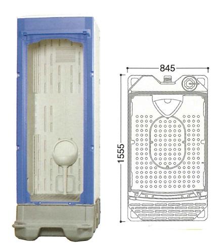 【直送品】 ハマネツ 仮設トイレ (非水洗) TU-iXS (1522300) 《小便器タイプ》 【大型】