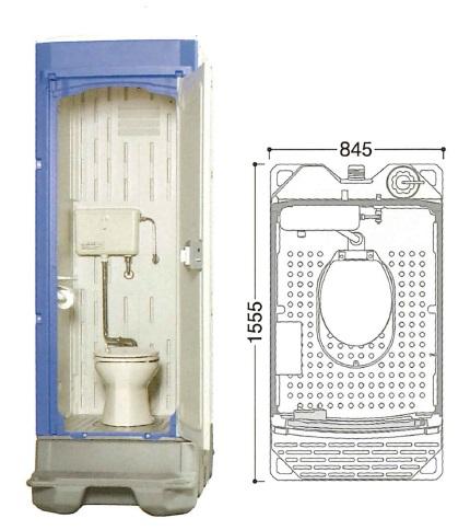 【代引不可】 ハマネツ 仮設トイレ (簡易水洗) TU-iXFW (1523200) 《洋式タイプ》 【送料別】