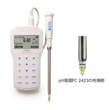 ハンナ pH/ORP計 HI 98165 (HI98165) (チーズ用)