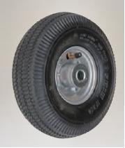 【直送品】 ハラックス タイヤ エアー入りタイヤ TR-3.50-4A アルミホイール《タイヤセット》 【送料別】