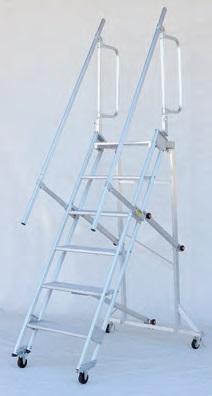 【直送品】 ハラックス キャリスター 作業台 CSK-55-6-161 天板付ステップ幅広・4輪キャスタータイプ 【大型】