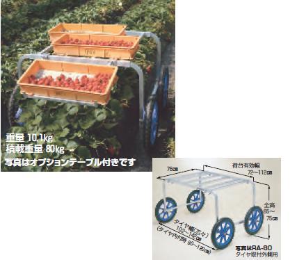 【直送品】 ハラックス 楽太郎用オプションテーブル RA-TB (RA-80-TABLE) オプションテーブル