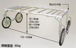 【直送品】 ハラックス 楽太郎 アルミ製 収穫台車 別売部品 幅広部品 (RA-W2350) 【大型】
