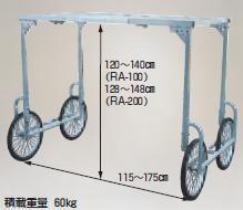【直送品】 ハラックス 楽太郎 アルミ製 収穫台車 別売部品 高床部品 (RA-H1480) 【大型】