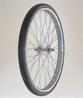 【直送品】 ハラックス タイヤセット ノーパンクタイヤ TR-24X1.75N スポークホイール 【大型】