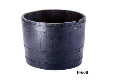 厳しい品質管理と高度な技術 【直送品】 長谷川工業 ハセガワ ウイスキー樽プランター(ブラック) H-60 (12873)