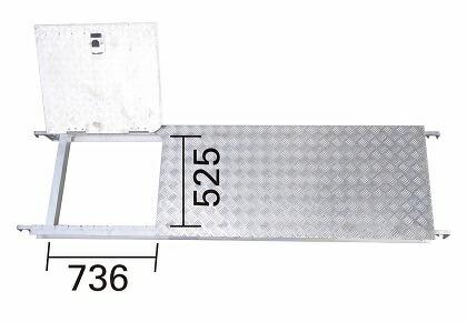 【直送品】 長谷川工業 アルミ製昇降口付足場板 JAS-AL-FSHDA-AL (16788) 《オプション》【法人向け、個人宅配送不可】 【大型】
