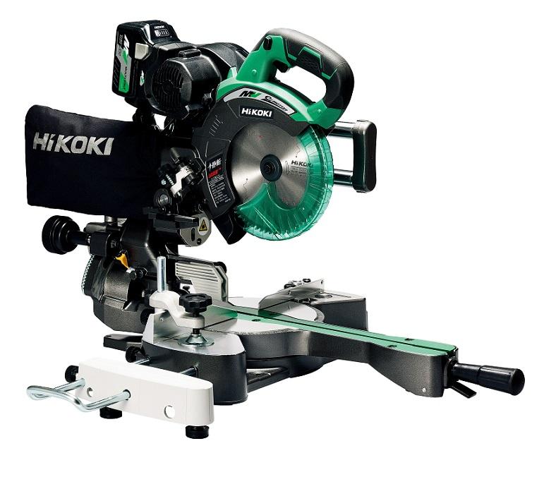日立工機は新ブランド名「HiKOKI(ハイコーキ)」に! 【直送品】 HiKOKI コードレス卓上スライド丸のこ C3607DRA(XP) (C3607DRA-XP) 【大型】