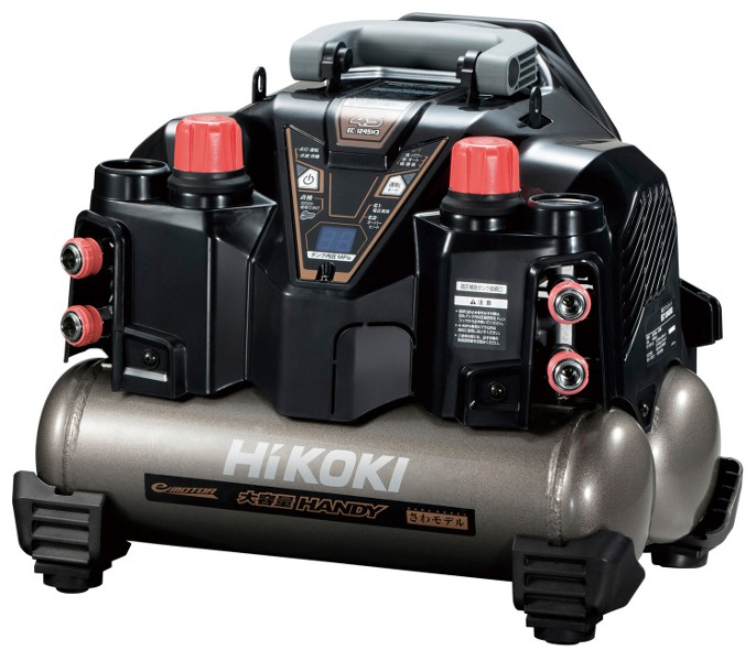 HiKOKI 高圧エアコンプレッサ EC1245H3(S) (EC1245H3-S) (高圧専用・セキュリティ機能なし)