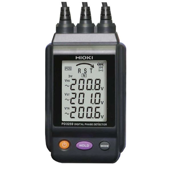 日置 (HIOKI) 電圧計付検相器 PD3259