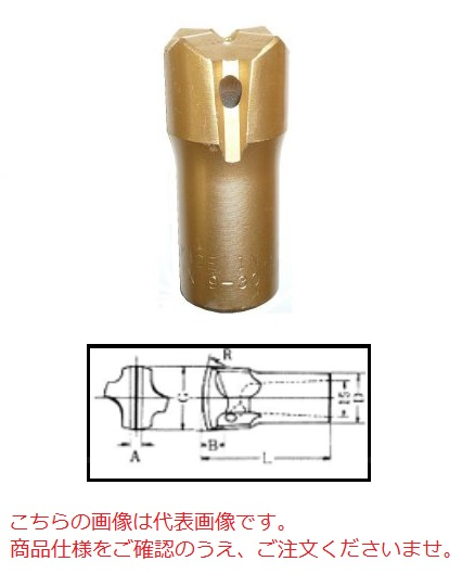 【直送品】 平戸金属 テーパークロスビット TX22-40 【法人向け、個人宅配送不可】(22H 40mm)