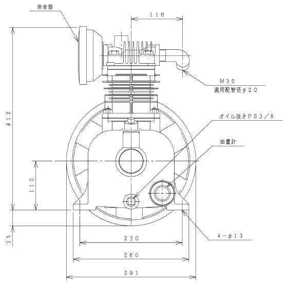 【直送品】 日立 給油式ベビコン 1.5P-9.5CV 圧縮機本体 【大型】