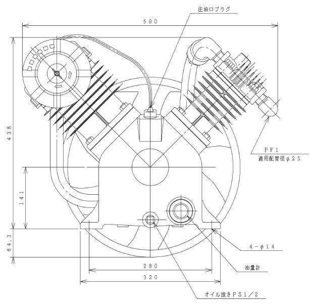 【直送品】 日立 給油式ベビコン 5.5P-9.5CV 圧縮機本体 【大型】