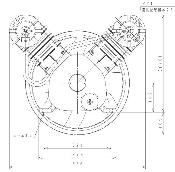 【直送品】 日立 コンプレッサー 7.5OP-8.5CG2 オイルフリーベビコン 【大型】