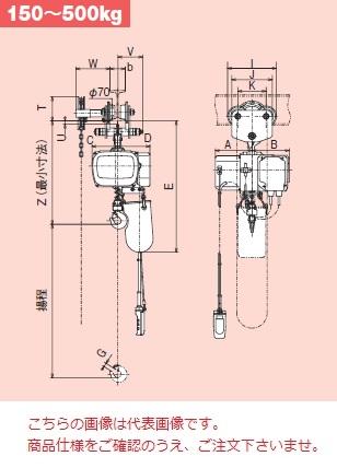 【直送品】 日立 モートルブロック Sシリーズ 500kg/揚程 6m 鎖動トロリ付 (1/2SH2-1/2BCH-2PBH) 《一速形》
