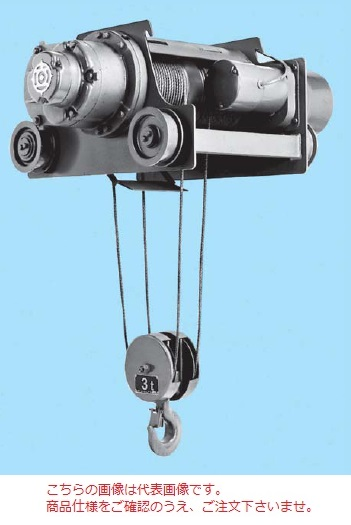 【直送品】 日立 ダブルレール形ホイスト Vシリーズ 2.8t/揚程 6m (2.8D-T55) (電動トロリ付)