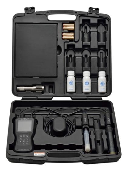 堀場製作所 フィールド型マルチデジタル水質計 WQ-320 pH・光学式DOセット (WQ-320PD-S) (キャリングケース付)